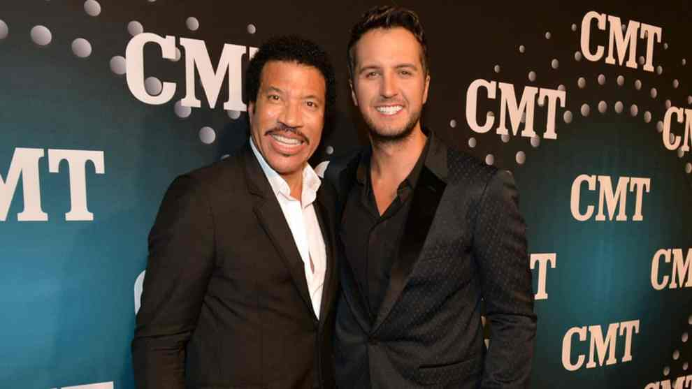Luke Bryan and Lionel Richie