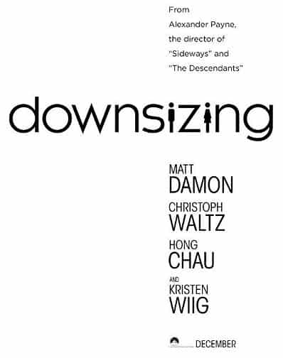 Downsizing - movie poster