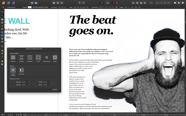 Screenshot do app Affinity Publisher
