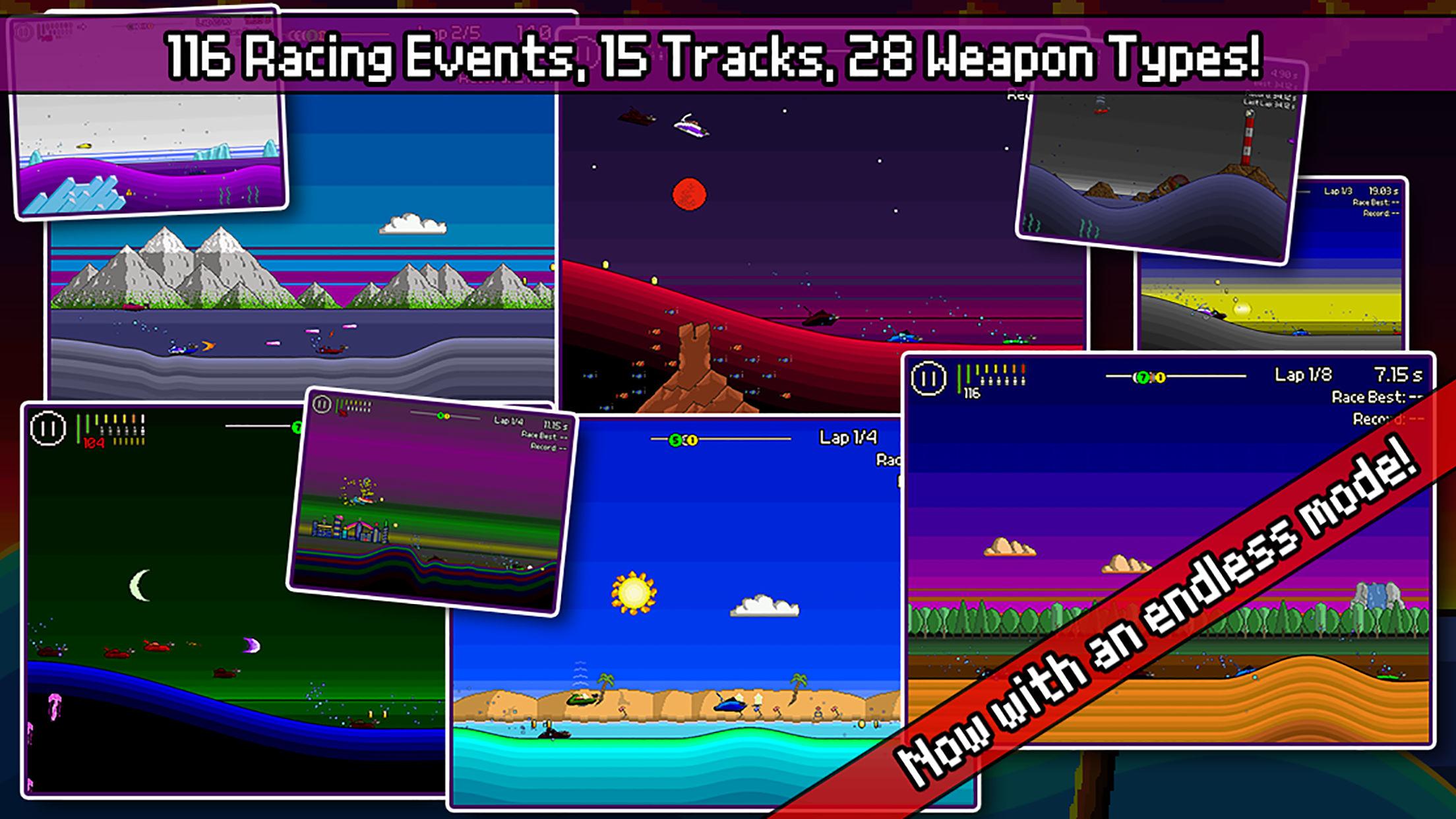 Screenshot do app Pixel Boat Rush