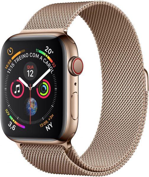 Apple Watch Series 4 dourado