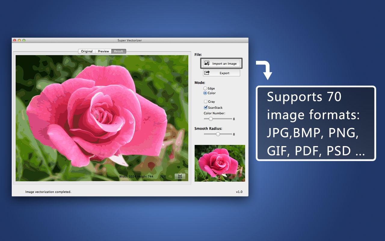 Screenshot do app Super Vectorizer - Image to Vector Graphic