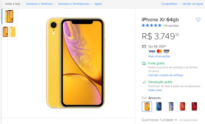 Apple iPhone XR no Mercado Livre
