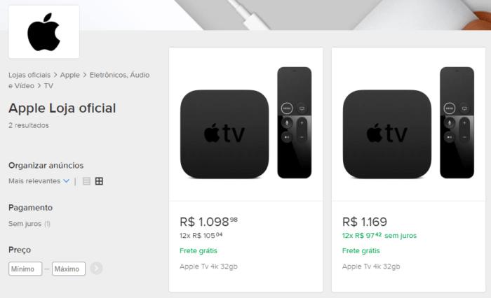 Apple TV 4K no Mercado Livre