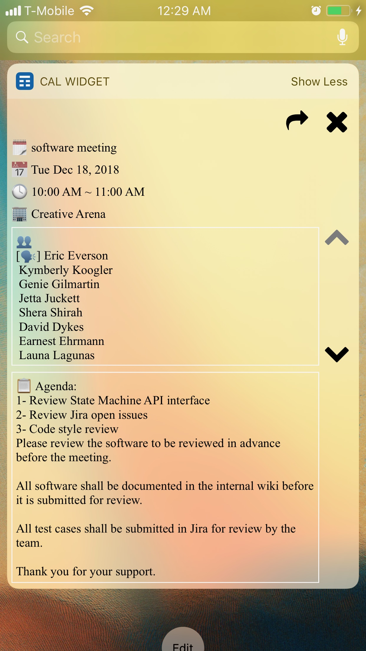 Screenshot do app Week Calendar Widget Pro