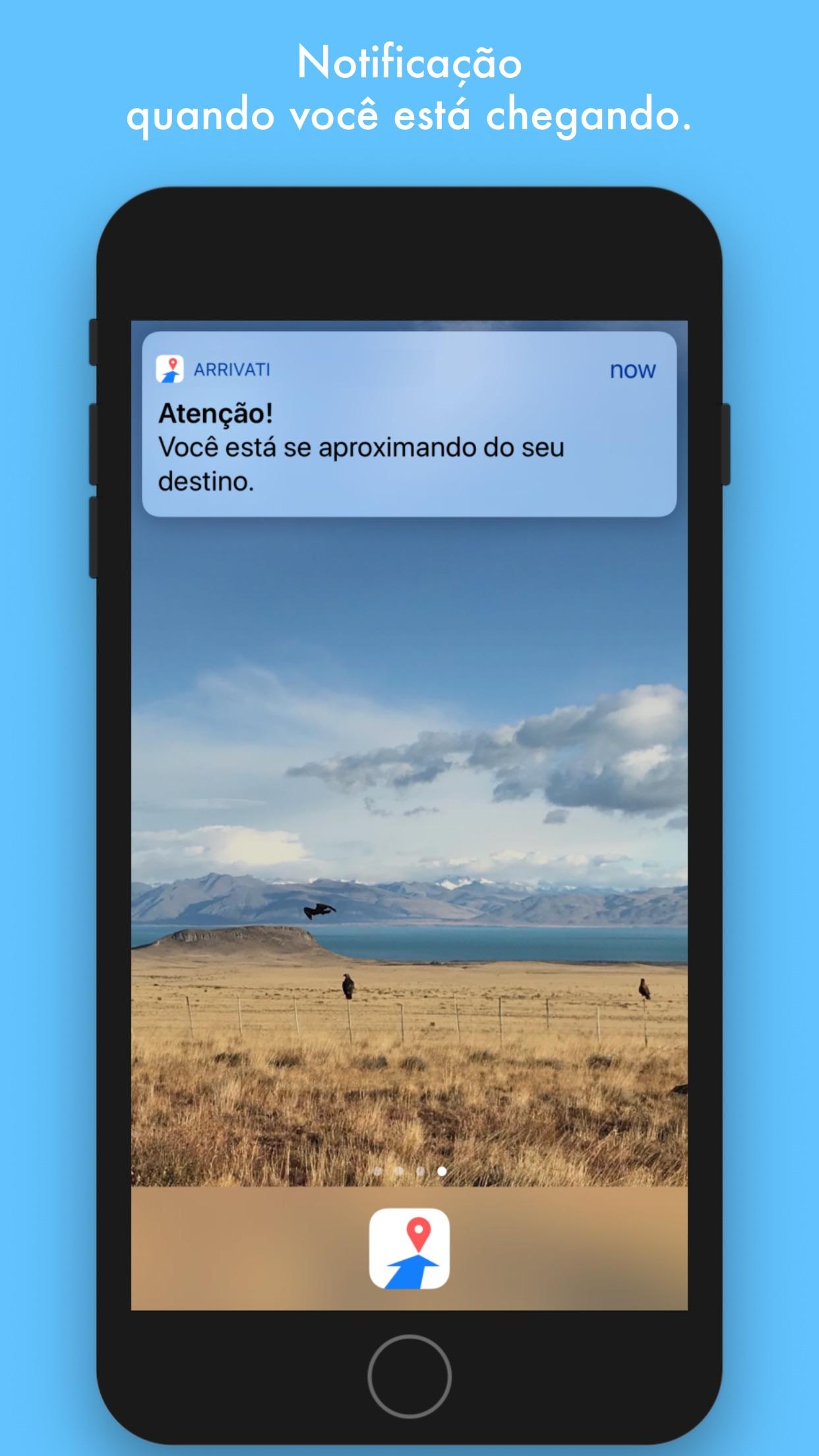 Screenshot do app Arrivati