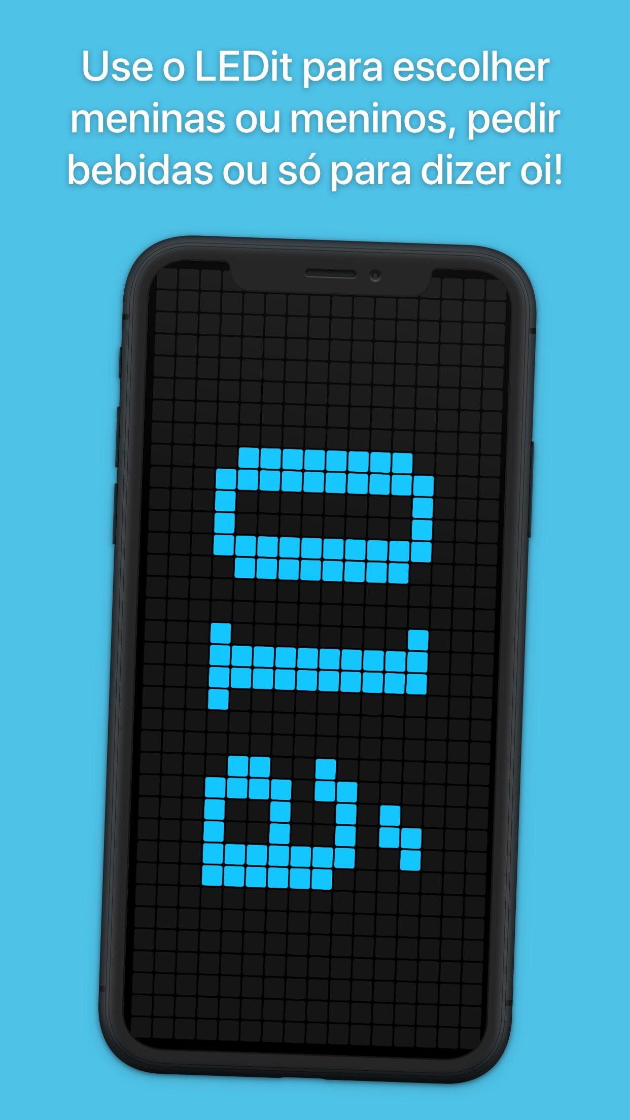 Screenshot do app LEDit