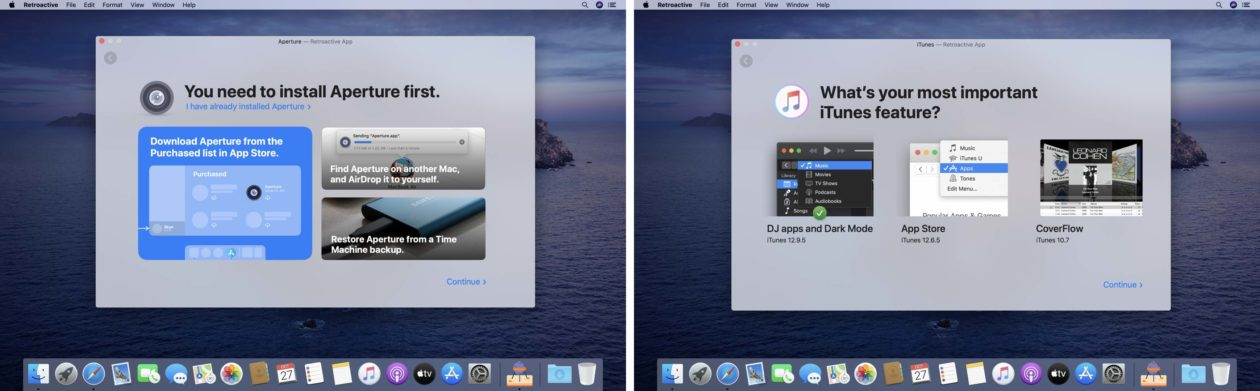 Retroactive, utilitário para rodar iTunes, iphoto e Aperture no macOS Catalina