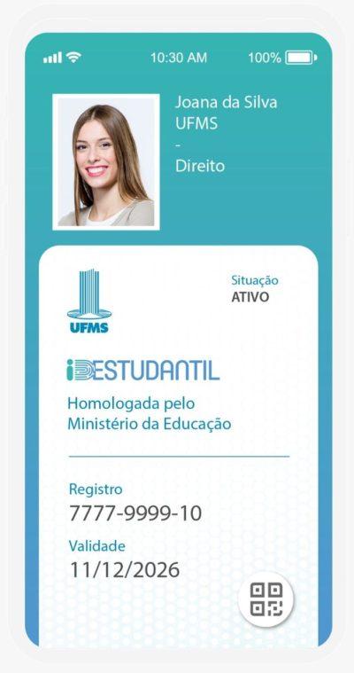Exemplo da ID Estudantil