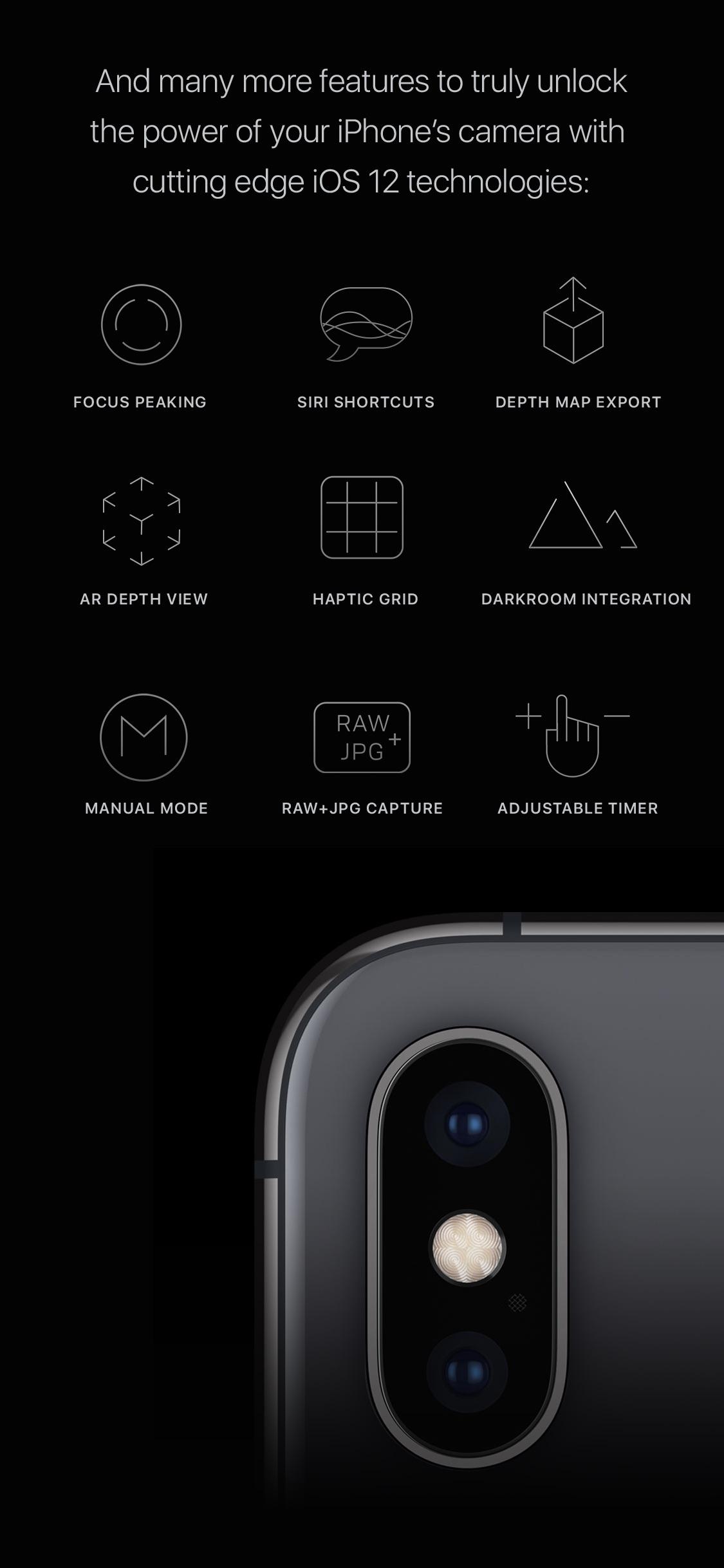 Screenshot do app Halide Camera