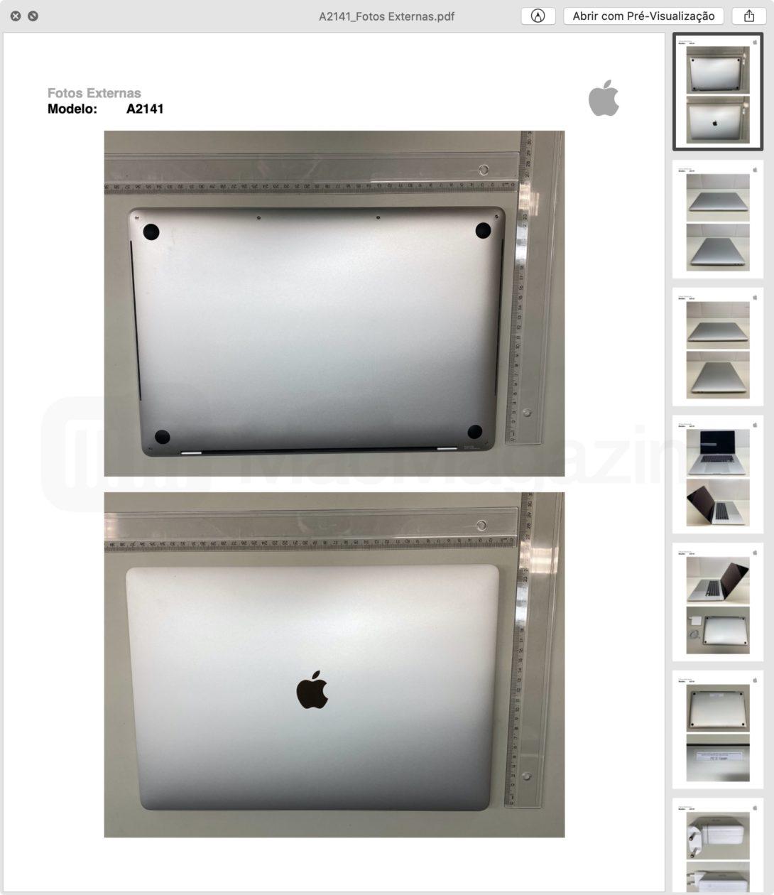 """Fotos externas da homologação do MacBook Pro de 16"""""""