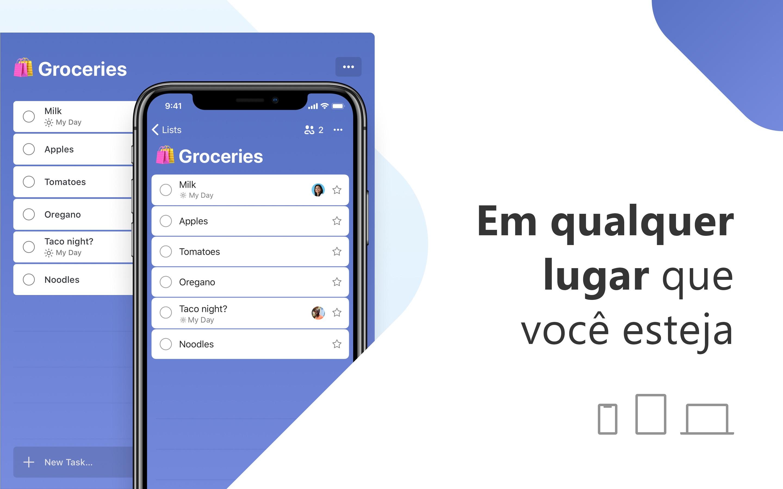 Screenshot do app Microsoft To Do