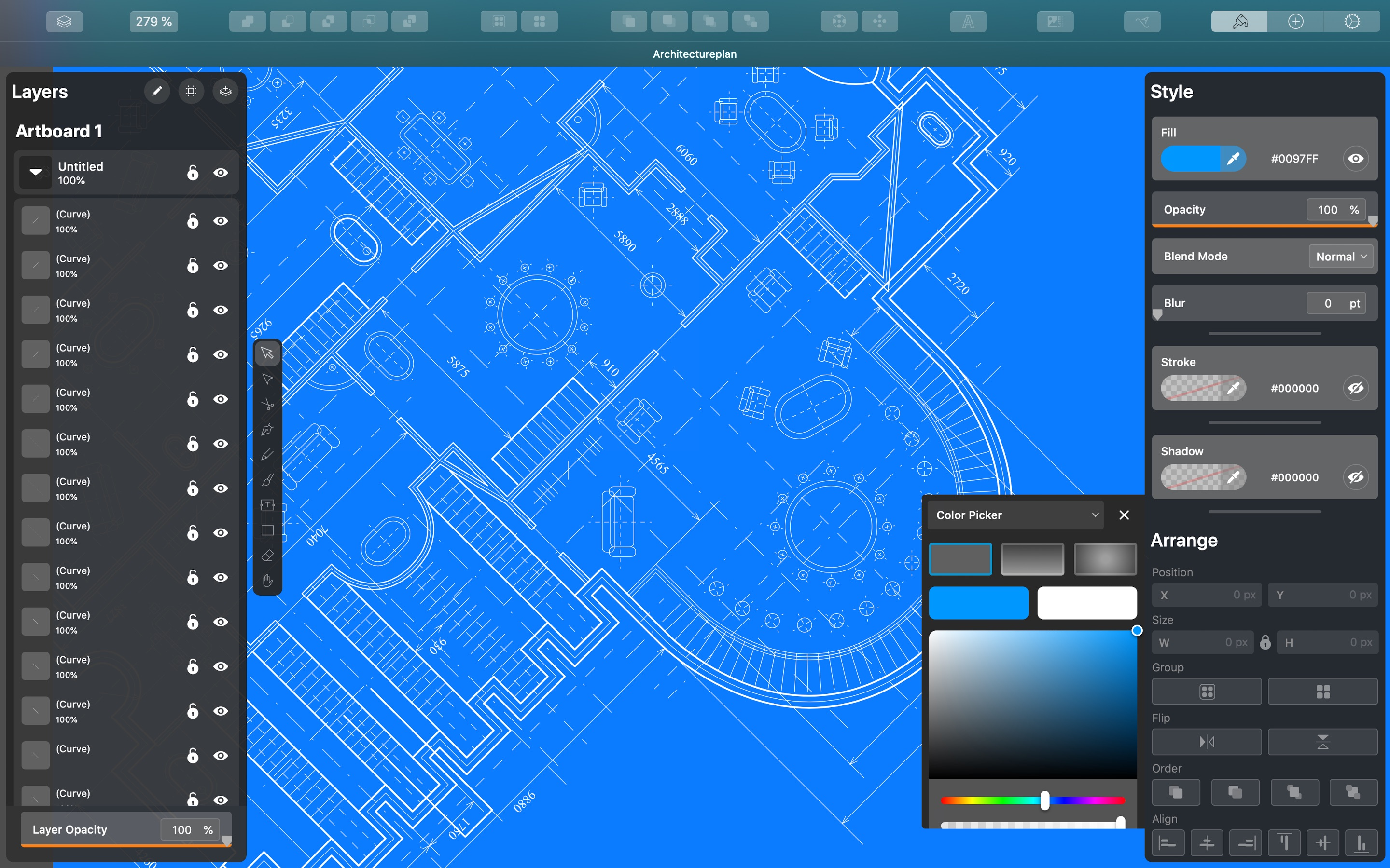 Screenshot do app Vectornator Pro - Vector Art