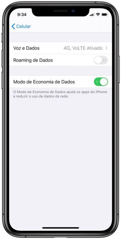 Economia de dados no iOS 13