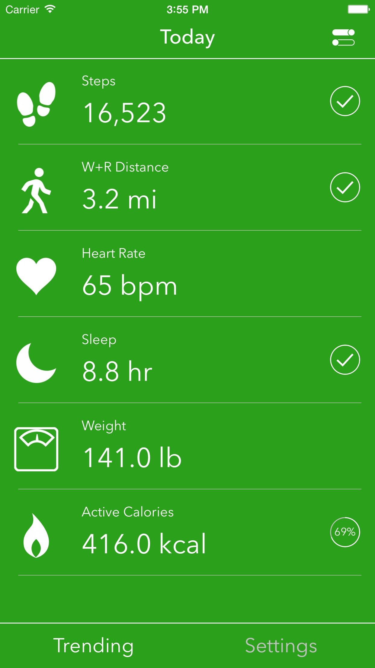 Screenshot do app Dashboard for Apple Health App