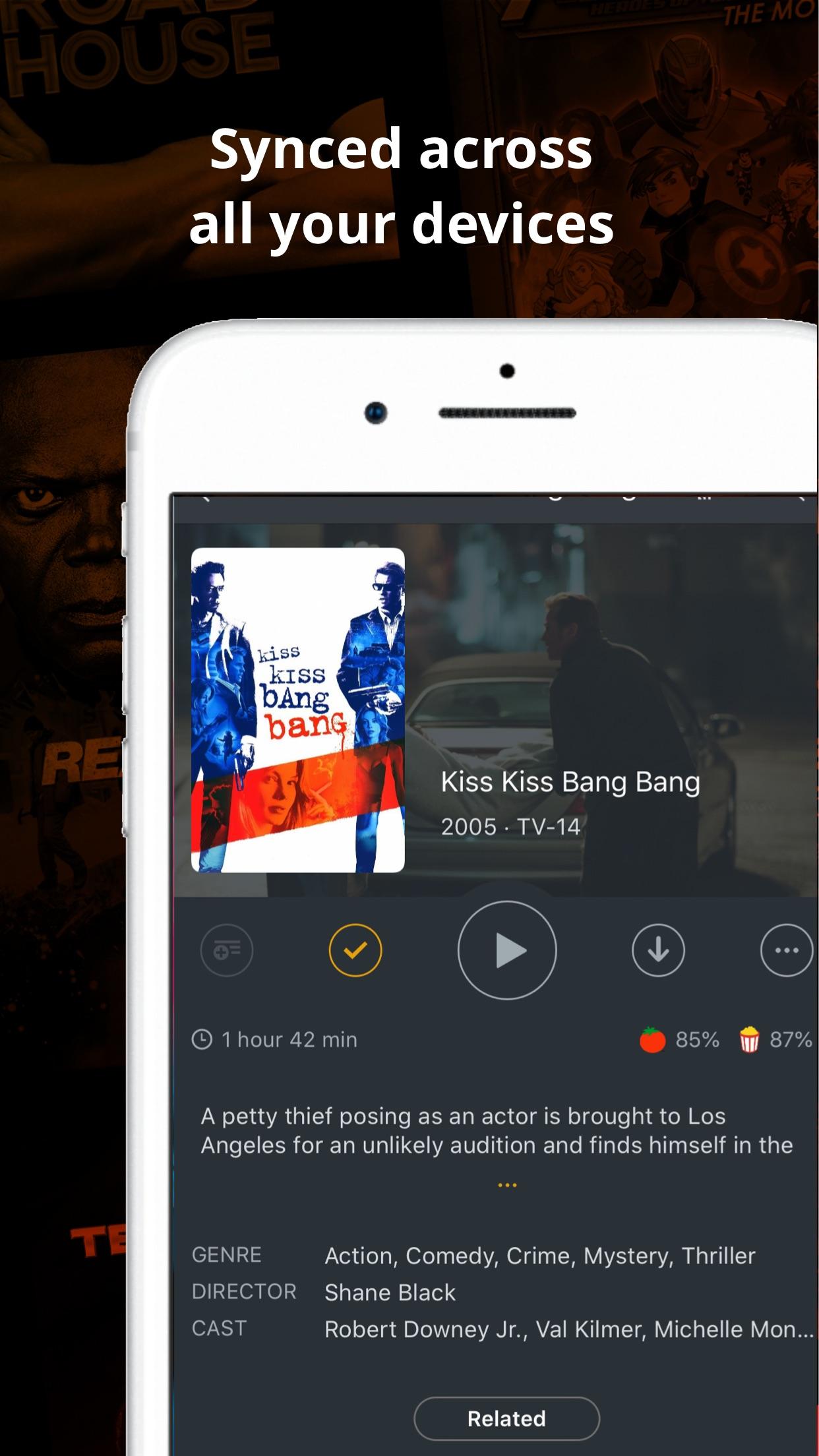 Screenshot do app Plex: Movies, TV, Music + more