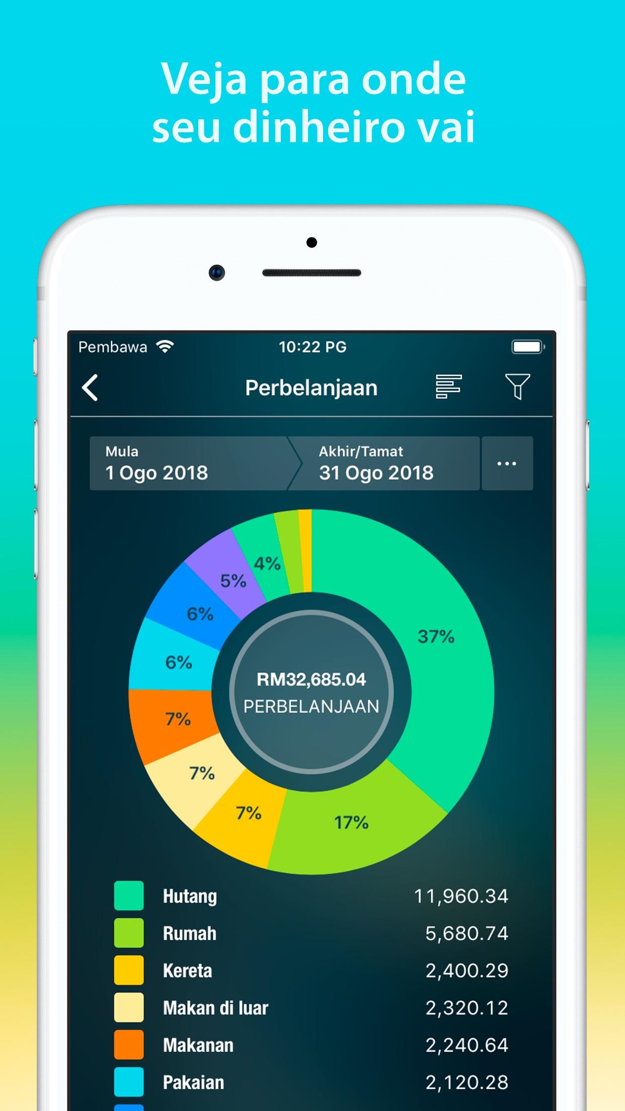 Screenshot do app Money Pro: Finanças Pessoais