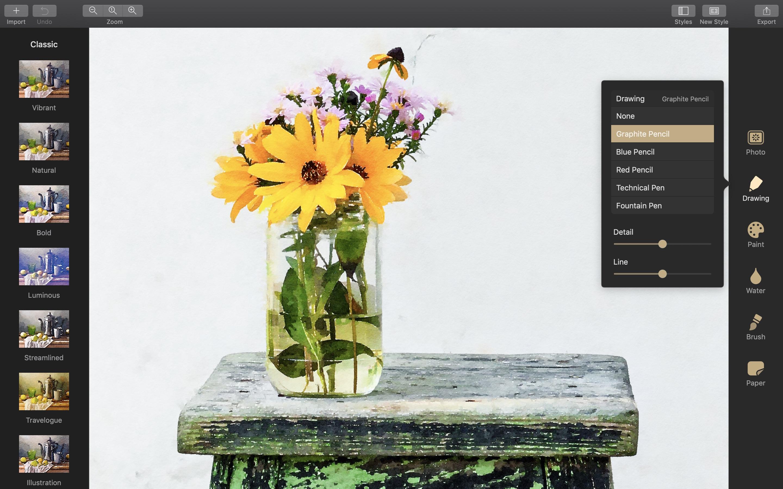 Screenshot do app Waterlogue Pro