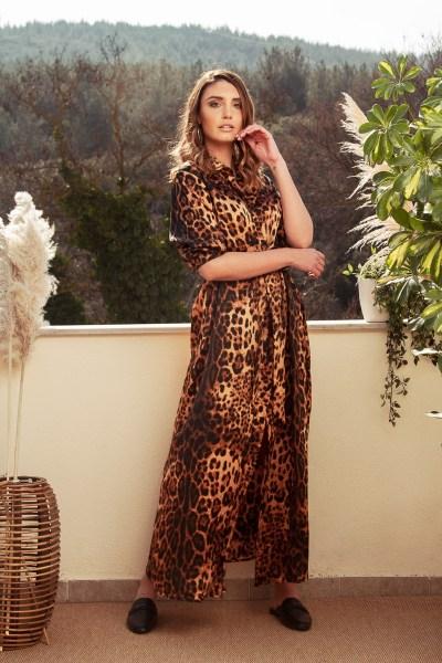 Μακρύ φόρεμα λεοπάρ