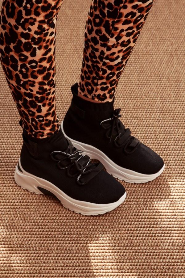 Sneakers ελαστικό μαύρο