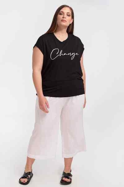 Μπλούζα plus size με τύπωμα change