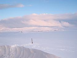 Hardangervidda: Schnee satt