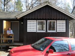 Hütte auf dem Campingplatz