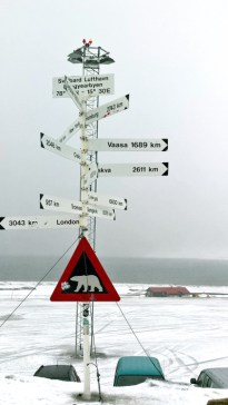 Der Nordpol ist nur halb so weit entfernt wie Hamburg