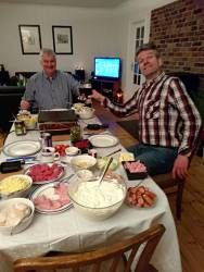 Mmh... Weihnachtsbier zu bescheidenem Raclettemahl