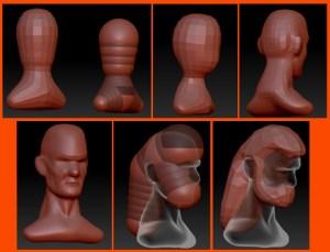 Capturas del modelado de la cabeza vikinga