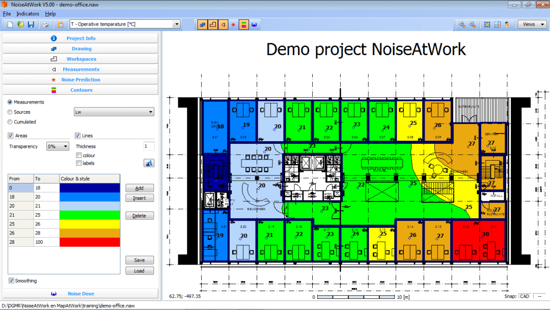 NoiseAtWork-demo-office-temperature