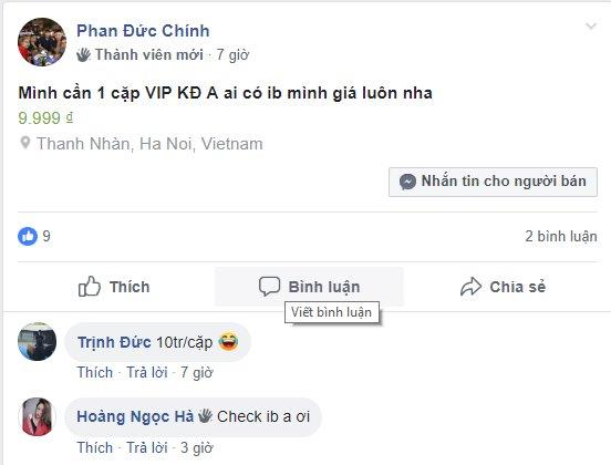 Vé trận chung kết lượt về giữa Việt Nam và Malaysia nhộn nhịp trên Internet