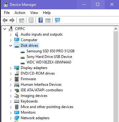 Vérifiez que votre PC dispose d'un SSD via le Gestionnaire de périphériques