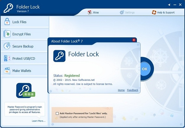 Folder Lock serial key registration code