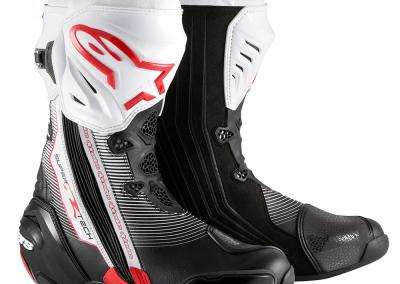 Botas Alpinestars Supertech R Preto-Branco-Vermelho