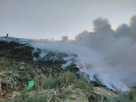 incendiu bacau groapa de gunoi