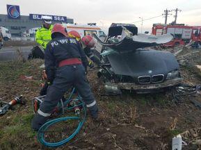 accident bmw pompieri