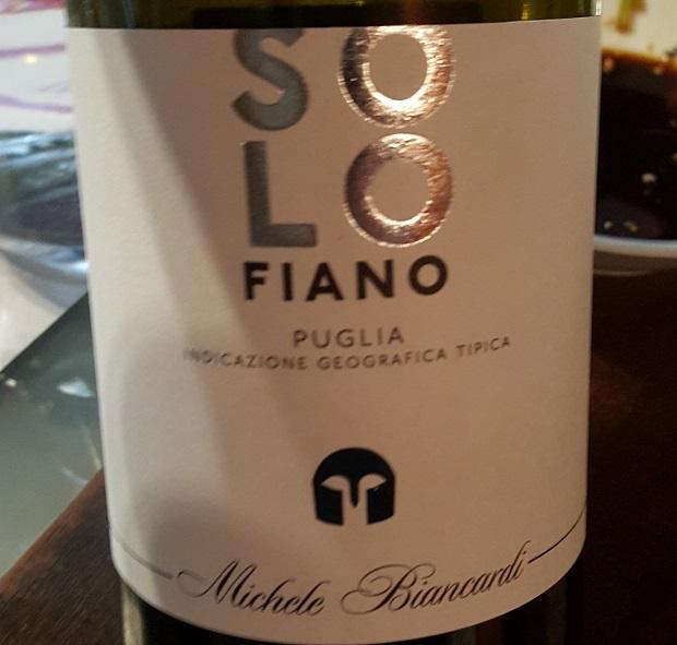 Wino do sushi - Biancardi Solo Fiano 2015