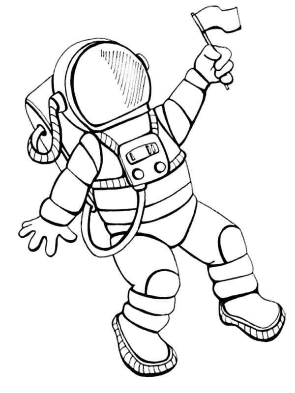 День космонавтики: рисунки раскраски (для детей ...