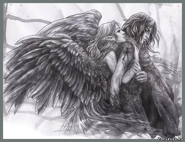 ангелы карандашные картинки, бесплатные карандашные ...