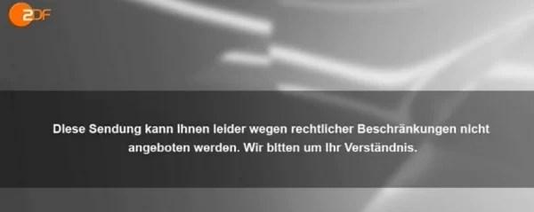 ZDF error message