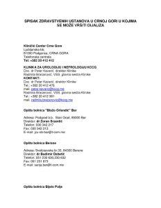 thumbnail of Dializni centri – Črna gora