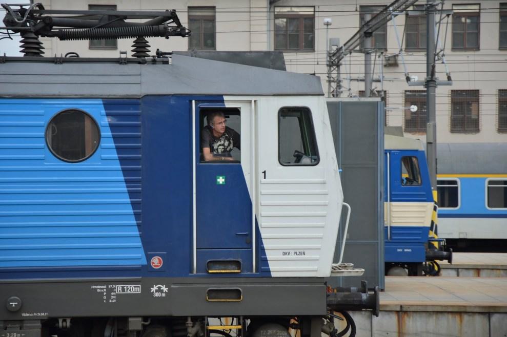 Lokomotivy Českých drah na pražském hlavním nádraží. Foto: Jan Sůra