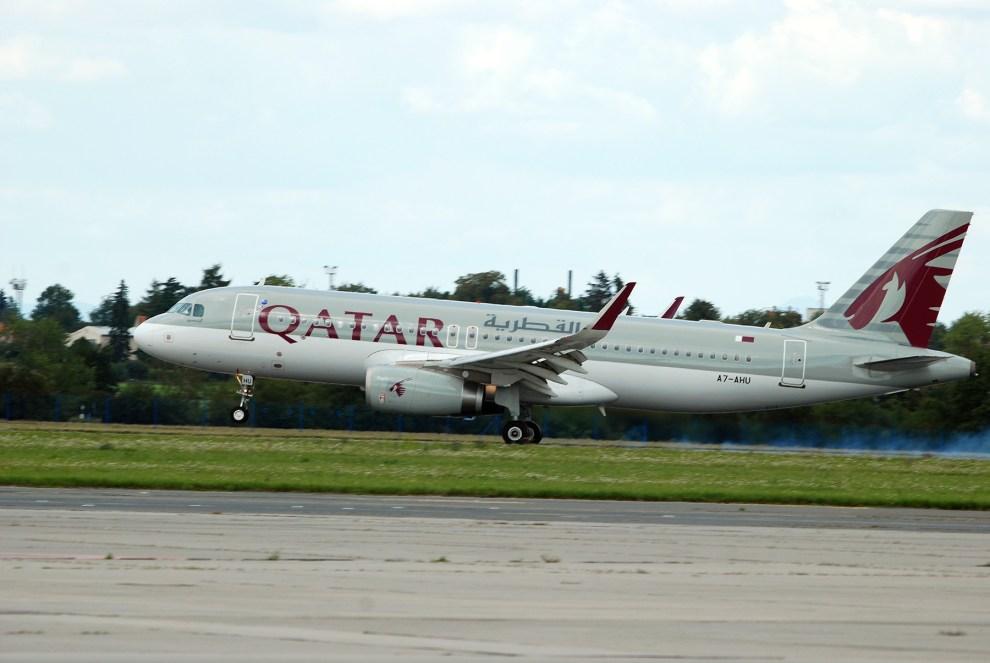 Let QR291 Qatar Airways Doha - Praha poprvé přistává v Praze, foto: Zdopravy.cz/Josef Petrák