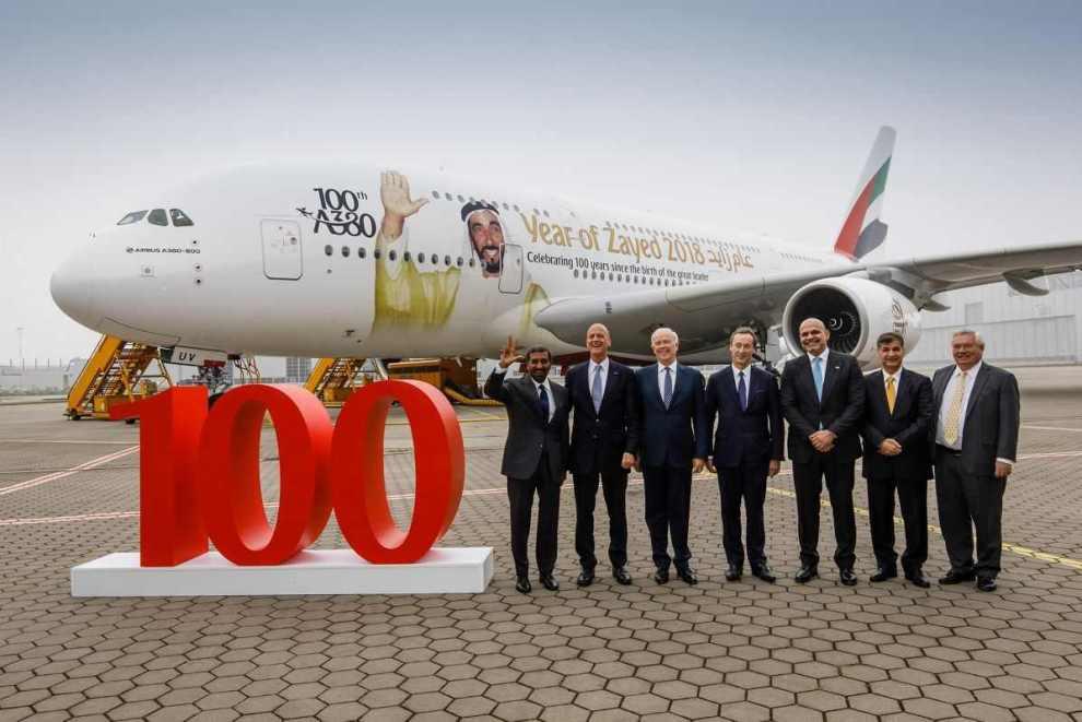 Předání stého Airbusu A380 společnosti Emirates. Foto: Airbus