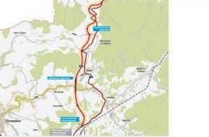 Trasa nové silnice I/13 mezi Krásnou Studánkou a Dětřichovem. Foto: ŘSD