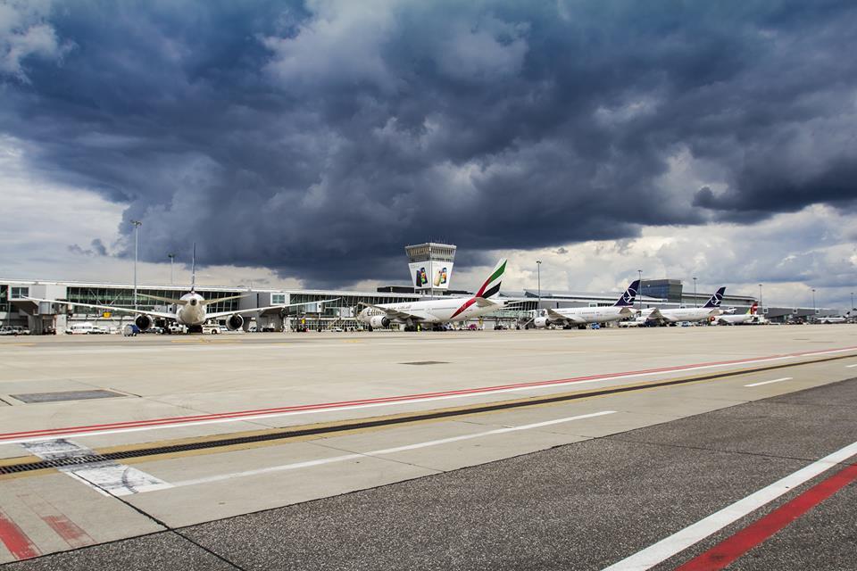 Dálková letadla na varšavském letišti. Foto: Letiště Varšava