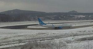 Letadlo společnosti Pobeda v Karlových Varech. Autor: Jakub Svoboda