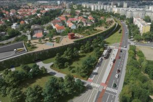 Spořilovská spojka v tunelu, vizualizace. Pramen: TSK - dokumentace EIA