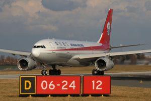 Airbus A330 společnosti Sichuan Airlines v Praze. Foto: Letiště Praha